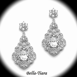NEW! Gorgeous Vintage CZ Earrings with Bold CZ Oval