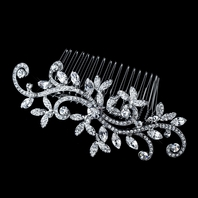 NEW!! GORGEOUS Vintage Swirl Bridal Antique Silver Wedding Comb - SALE!!!