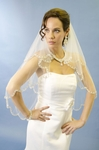 NEW High end two tier crystal beaded edge veil - SALE