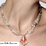 NEW!! Italian collection Glam crystal and sterling silver necklace set - SALE