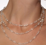 NEW! Italian collection - Swarovski crystal sterling silver wedding necklace set - SPECIAL