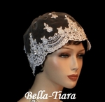 Seliana - NEW - Elegant Vintage Lace Cap Veil for wedding - SALE