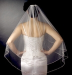 Hollie - Romantic Collection - Beautiful Double Layer Crystal beaded Wedding Veil - SPECIAL
