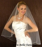 NEW - Beautiful Swarovski Rhinestone Edge Cascading Wedding Veil