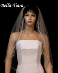 NEW - Dazzling crystal beaded edge Wedding Veil - SPECIAL