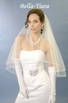 NEW  - Elegant satin edge with crystal wedding Veil - SALE