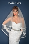 NEW !! - Gorgeous foldover Veil with Lace Edge