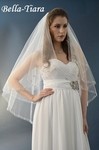 Lydia - NEW!! Striking 2 Layer crystal beaded edge Fingertip Veil