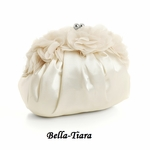 NEW!!  Ivory Satin Vintage Bridal Evening Bag