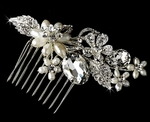 New!! Lea - Freshwater pearl crystal bridal hair comb - SALE!!