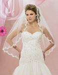 NEW!! Mantilla style lace edge bridal veil - 5631VL -SALE