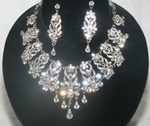 NEW Maritza - Dramatic Swarovski crystal collar Necklace set - SPECIAL  one left