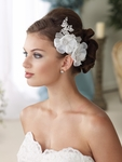 NEW!! Mon Cheri couture collection floral silk wedding hairflower