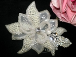 NEW!!! Off white beaded crystal bridal hair comb - SPECIAL