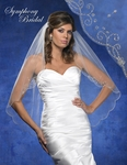 NEW!! Romantic silver beaded crystal edge bridal veil - SALE!