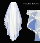 NEW!!! Royal Collection - Stunning two tier silver crystal beaded edge wedding veil - SPECIAL