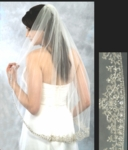 NEW!! ROYAL crystal edge Wedding veil - SALE!!