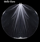 NEW! Sorha -Royal Collection Crystal Edge ivory or champagne wedding Veil - SALE
