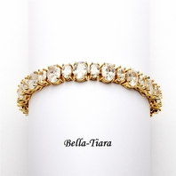 NEW! Spectacular Multi Ovals Gold CZ Bracelet