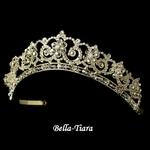 Nicola - Breathtaking Gold Crystal & Rhinestone Wedding Tiara