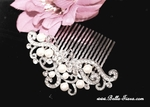 Nicola - Romantic scroll crystal pearl vintage bridal hair comb - SPECIAL - two left