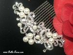 Nicola - Romantic scroll and pearl  wedding hair comb - SPECIAL - two left