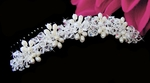 Nicolette - Light ivory Freshwater Pearl and Crystal hair comb - GREAT PRICE!