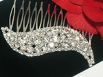 Nina - Dazzling Swarovski crystal wedding hair comb - SPECIAL - one left