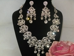 Noelle - Spectacular Swarovski crystal bridal necklace set - SALE!!