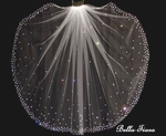 Nora - Beautiful high end crystal beaded communion veil - SALE