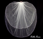 Nora - Dazzling 2 tier swarovski crystal edge wedding veil - SALE