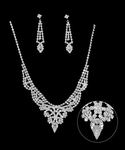 Nuccia - Glamorous rhinestone drop Bridal Necklace Set