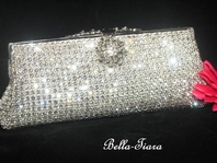 Olivia  BEAUTIFUL vintage elegance swarovski crystal clutch purse --   SPECIAL