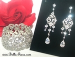 Oriana - Vintage beauty CZ chandelier earrings and bracelet set - SPECIAL Two sets left