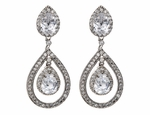 Paige - Elegant CZ wedding earrings - Sale