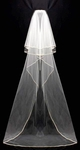 Paris - Elegant three tier cathedral lenght wedding veil - SALE