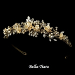 Paris - Sparkling Gold & Champagne Wedding Tiara