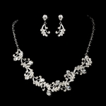 Paris - Victorian swirl crystal bridal necklace set