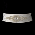 Pearl & Rhinestone Bridal Belt  (White or Ivory) - SALE
