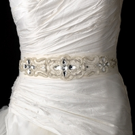 Pearls, Rhinestones & Beaded Wedding Sash Bridal Belt - SPECIAL!!