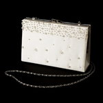 Perlabella - Ivory Pearl Crystal beaded bridal Purse - SALE!!