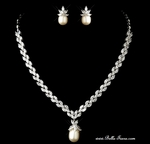 Perlina - Couture Cubic Zirconia Bridal necklace set - SPECIAL!!
