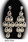 Perry - Dramatic gold chandelier earrings - Special one left