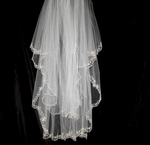 Plaza - Gorgeous vintage two tier scalloped edge bridal veil - SPECIAL