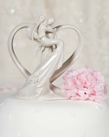 Porcelain Heart with Groom Holding Bride