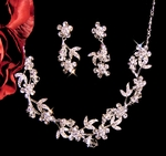 Precious - Crystal vine floral Necklace Set