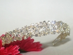 Prima - GORGEOUS crystal bold light gold bridal headband tiara - SALE!!
