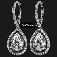 Prima - Sophisticated CZ drop earrings - SALE!!