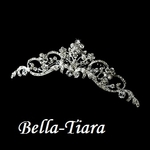 Princess Erica - Beautiful floral swirl crystal communion tiara - SPECIAL