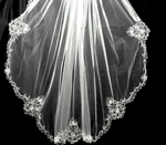 Princess Hanna - Royal Collection beaded wedding veil -   SALE!!